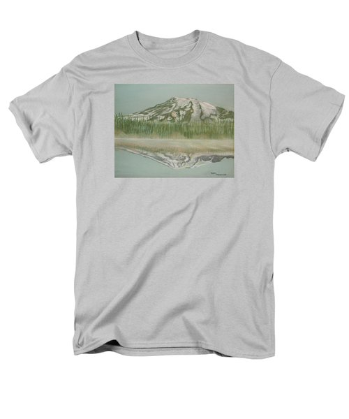 Men's T-Shirt  (Regular Fit) featuring the pastel Mt Rainier by Terry Frederick