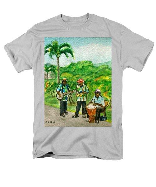 Musicians On Island Of Grenada Men's T-Shirt  (Regular Fit) by Frank Hunter
