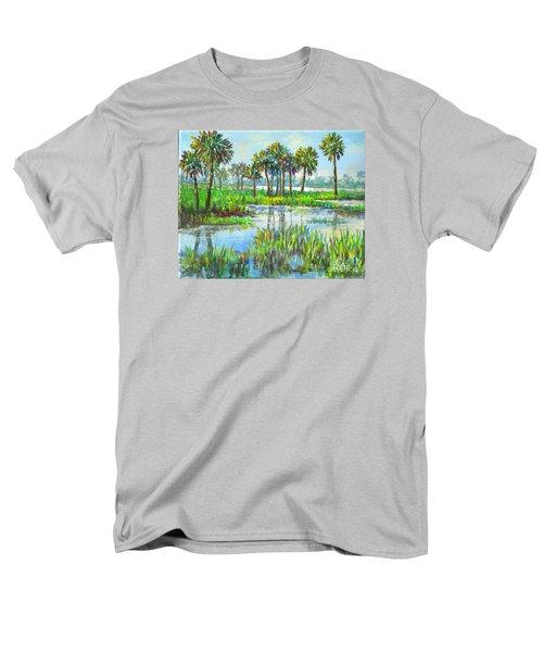 Myakka Lake With Palms Men's T-Shirt  (Regular Fit) by Lou Ann Bagnall