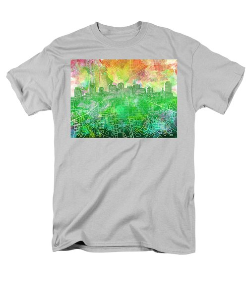 Nashville Skyline Watercolor 2 Men's T-Shirt  (Regular Fit)