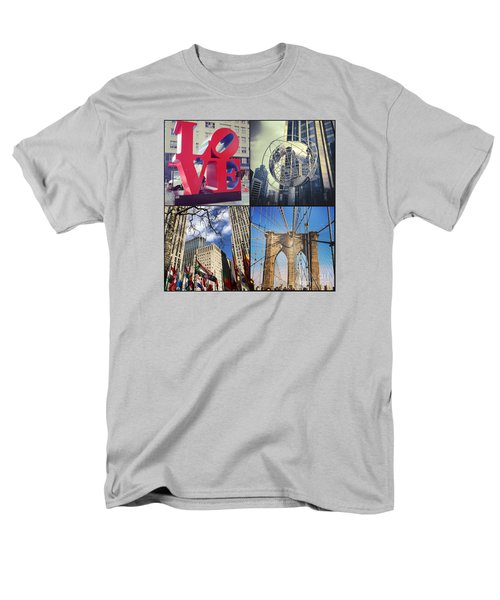 Men's T-Shirt  (Regular Fit) featuring the photograph New York Sights  by Kerri Farley