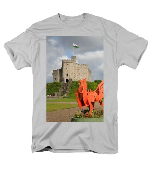 Men's T-Shirt  (Regular Fit) featuring the photograph Norman Keep Cardiff Castle by Jeremy Voisey