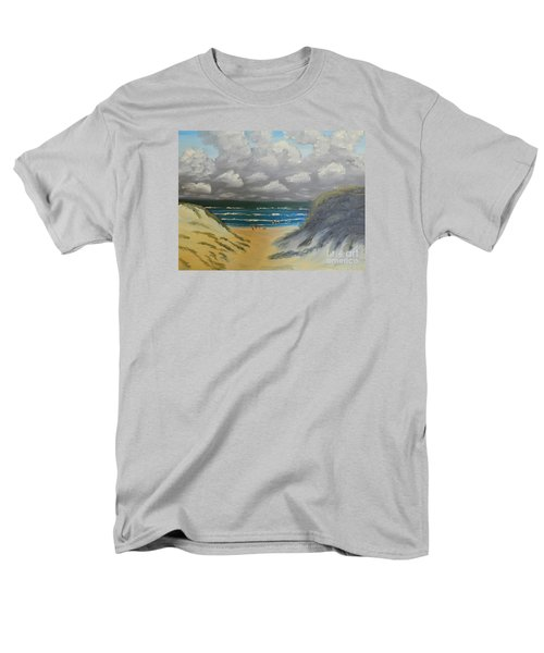 Men's T-Shirt  (Regular Fit) featuring the painting North Windang Beach by Pamela  Meredith