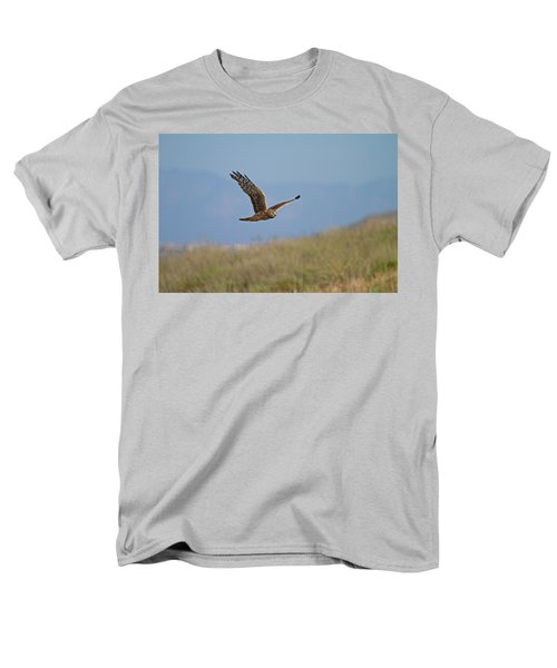 Northern Harrier In Flight Men's T-Shirt  (Regular Fit) by Duncan Selby