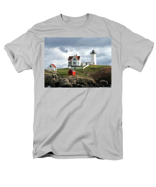 Nubble Lighthouse Men's T-Shirt  (Regular Fit) by Nancy Landry