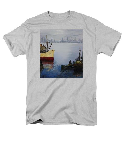 Oil Msc 025  Men's T-Shirt  (Regular Fit) by Mario Sergio Calzi