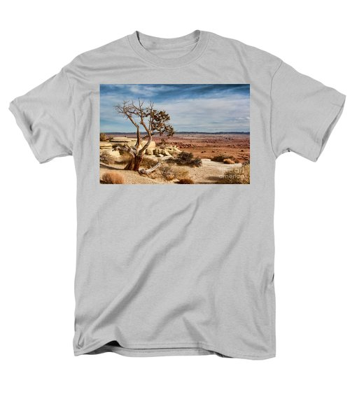 Men's T-Shirt  (Regular Fit) featuring the photograph Old Desert Cypress Struggles To Survive by Michael Flood