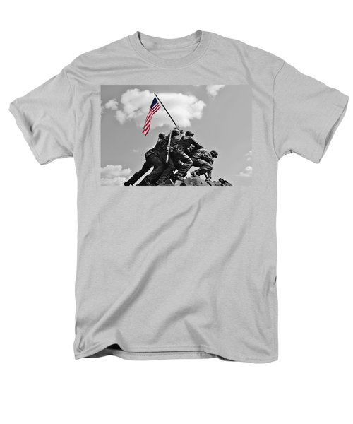 Men's T-Shirt  (Regular Fit) featuring the photograph Old Glory At Iwo Jima by Jean Goodwin Brooks