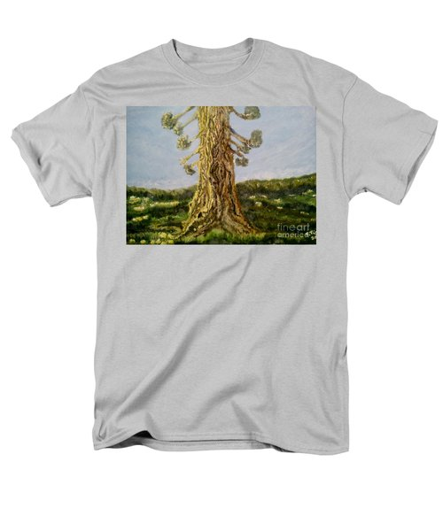 Old Tree In Spring Light Men's T-Shirt  (Regular Fit) by Felicia Tica