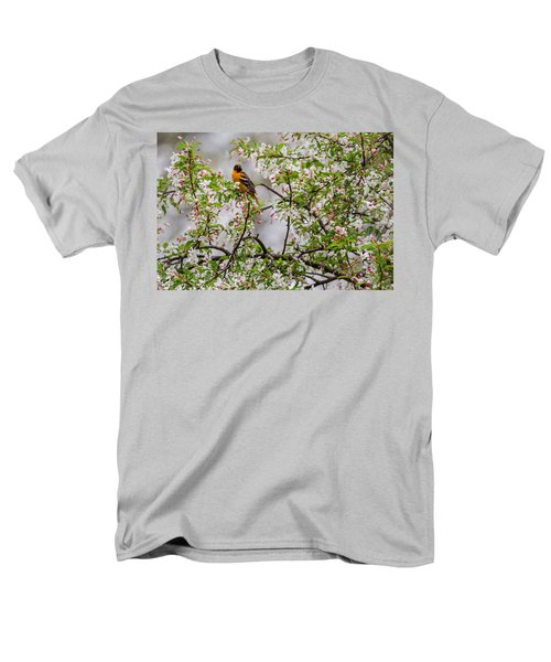 Oriole In Crabapple Tree Men's T-Shirt  (Regular Fit) by Bill Wakeley