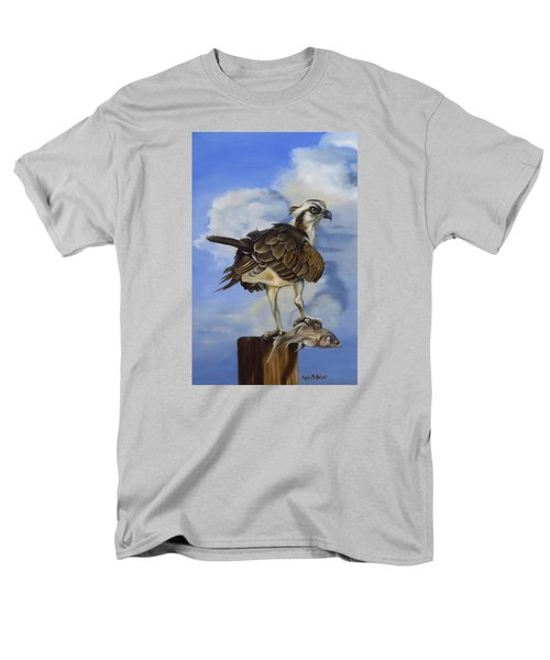 Men's T-Shirt  (Regular Fit) featuring the painting Osprey And A Mullet by Phyllis Beiser