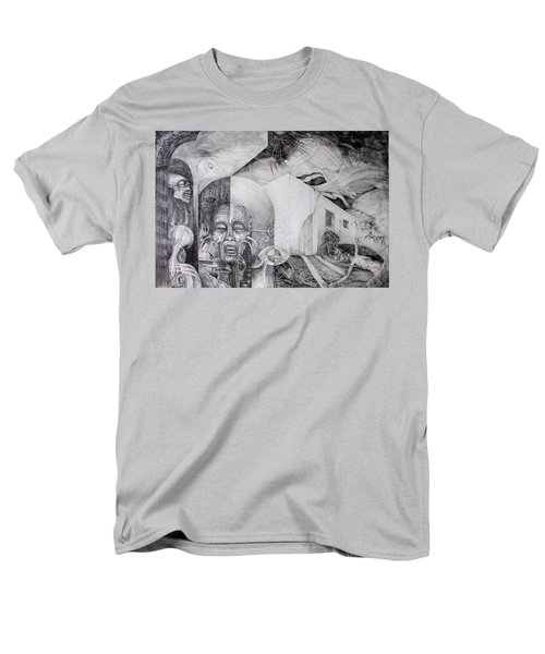 Men's T-Shirt  (Regular Fit) featuring the drawing Outskirts Of Necropolis by Otto Rapp
