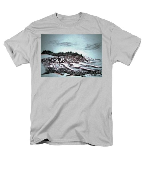 Men's T-Shirt  (Regular Fit) featuring the drawing Oven's Park Nova Scotia by Janice Rae Pariza