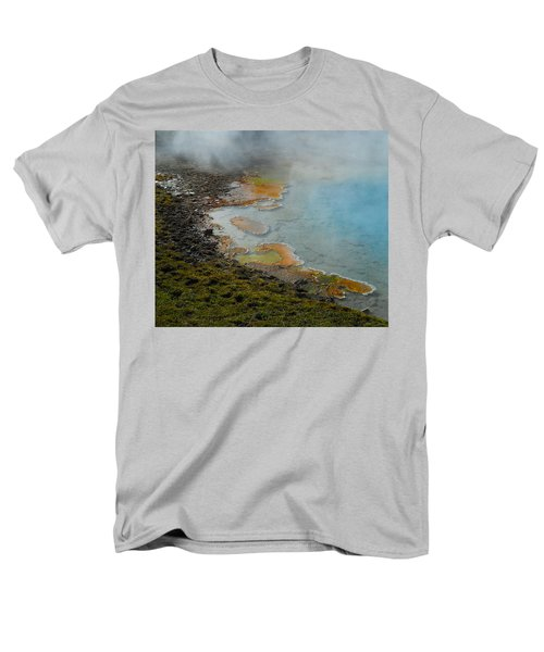 Painted Pool Of Yellowstone Men's T-Shirt  (Regular Fit) by Michele Myers