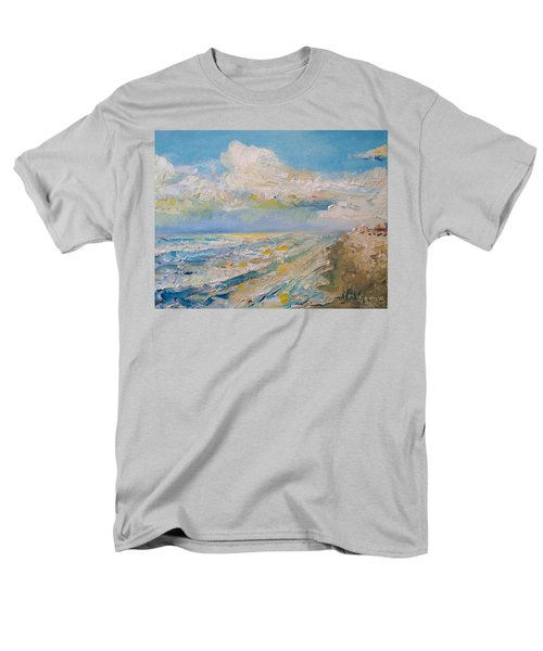 Men's T-Shirt  (Regular Fit) featuring the painting Panama City Beach by Alan Lakin
