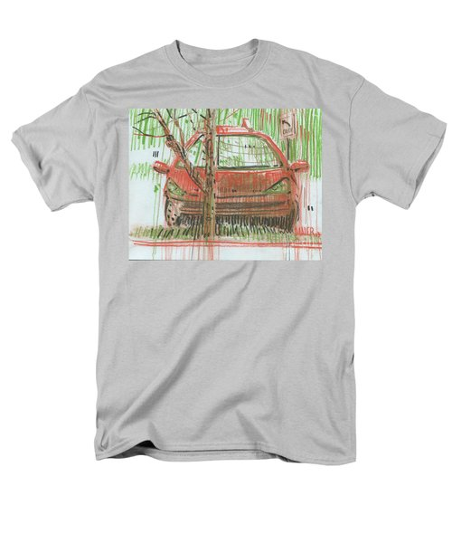 Men's T-Shirt  (Regular Fit) featuring the painting Papa John's by Donald Maier