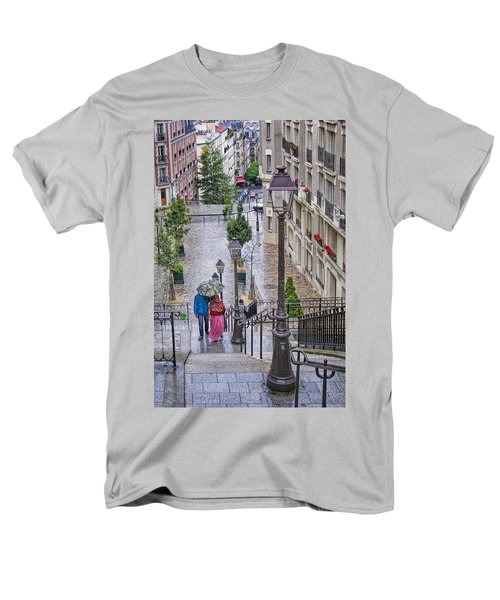 Paris Sous La Pluie Men's T-Shirt  (Regular Fit) by Nikolyn McDonald