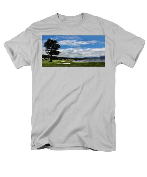 Pebble Beach - The 18th Hole Men's T-Shirt  (Regular Fit) by Judy Vincent