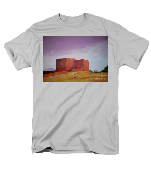 Men's T-Shirt  (Regular Fit) featuring the painting Pecos Mission Landscape by Eric  Schiabor