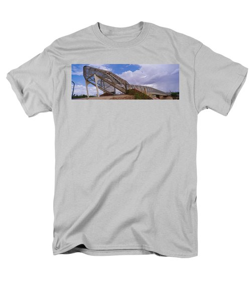 Pedestrian Bridge Over A River, Snake Men's T-Shirt  (Regular Fit) by Panoramic Images