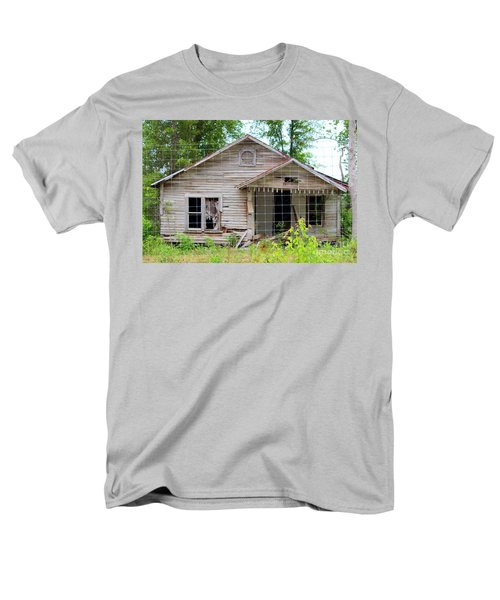 Men's T-Shirt  (Regular Fit) featuring the photograph Peeking In At The Past by Kathy  White