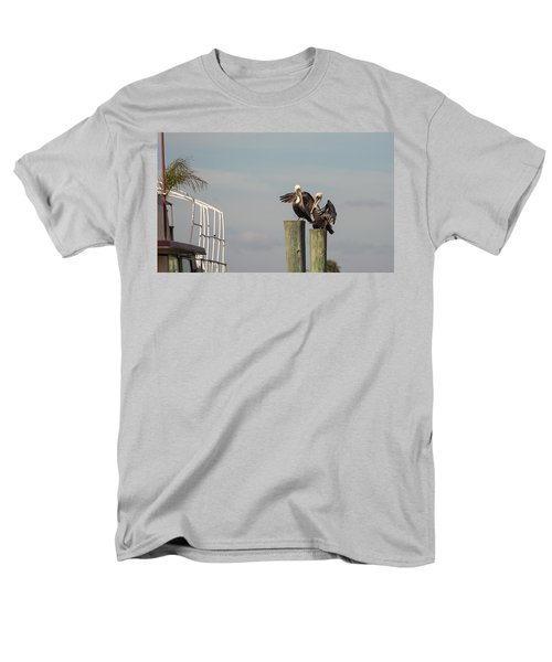 Men's T-Shirt  (Regular Fit) featuring the photograph Pelican Buddies by John M Bailey