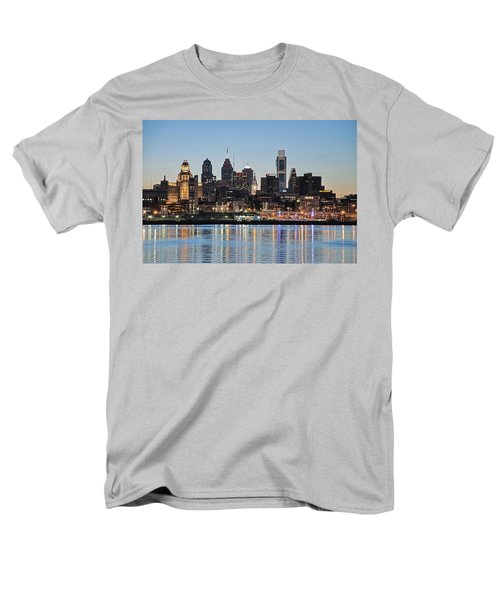 Philly Sunset Men's T-Shirt  (Regular Fit) by Jennifer Ancker