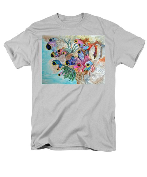 Pink Beach Sea Squirts Men's T-Shirt  (Regular Fit) by Patricia Beebe