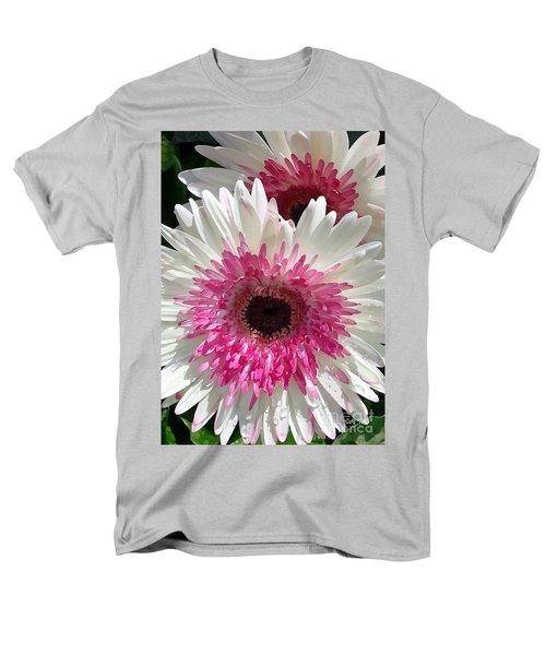 Pink N White Gerber Daisy Men's T-Shirt  (Regular Fit) by Sami Martin