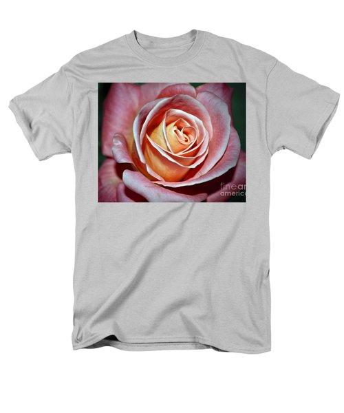 Men's T-Shirt  (Regular Fit) featuring the photograph Pink Rose by Savannah Gibbs