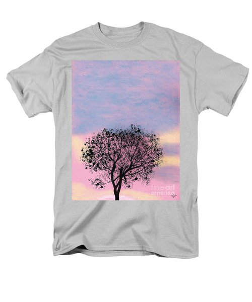 Men's T-Shirt  (Regular Fit) featuring the drawing Pink Sunset by D Hackett