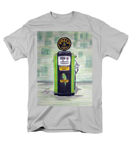Men's T-Shirt  (Regular Fit) featuring the painting Polly Gas Pump by Kathy Marrs Chandler
