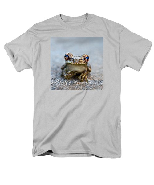 Pondering Frog Men's T-Shirt  (Regular Fit) by Laura Fasulo