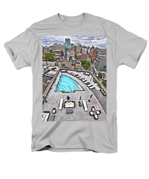 Pool With A View Men's T-Shirt  (Regular Fit) by Steve Sahm