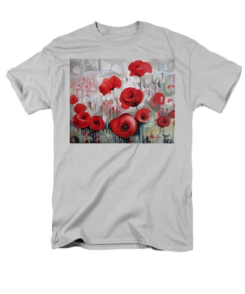 Men's T-Shirt  (Regular Fit) featuring the painting Poppy Flowers by Elena Oleniuc