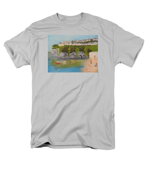 Men's T-Shirt  (Regular Fit) featuring the painting Port Asaac Cornwell by Pamela  Meredith