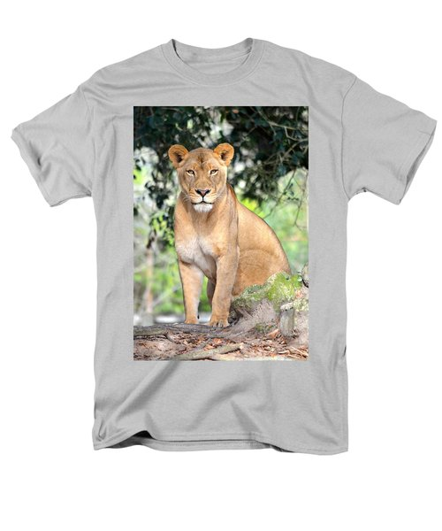 Portrait Of A Proud Lioness Men's T-Shirt  (Regular Fit) by Richard Bryce and Family