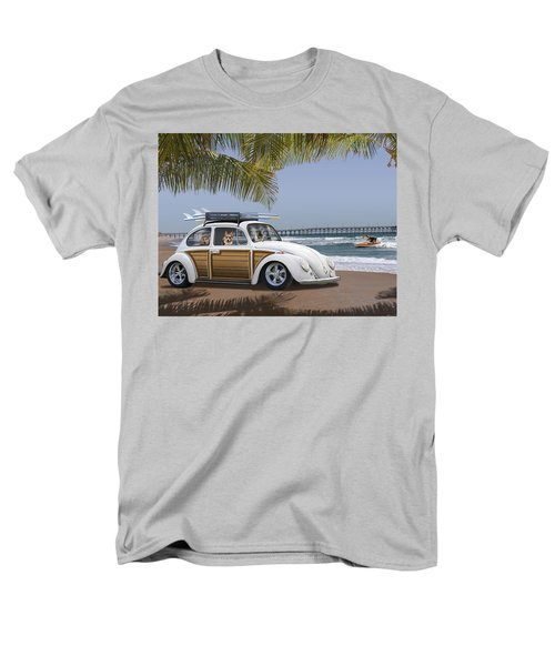 Postcards From Otis - Beach Corgis Men's T-Shirt  (Regular Fit) by Mike McGlothlen
