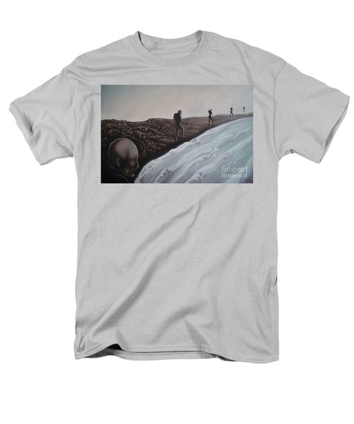 Men's T-Shirt  (Regular Fit) featuring the painting Premonition by Michael  TMAD Finney