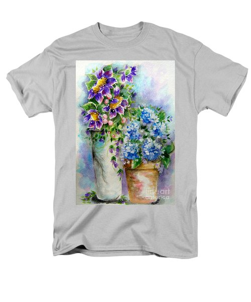 Purple Flowers Men's T-Shirt  (Regular Fit) by Patrice Torrillo