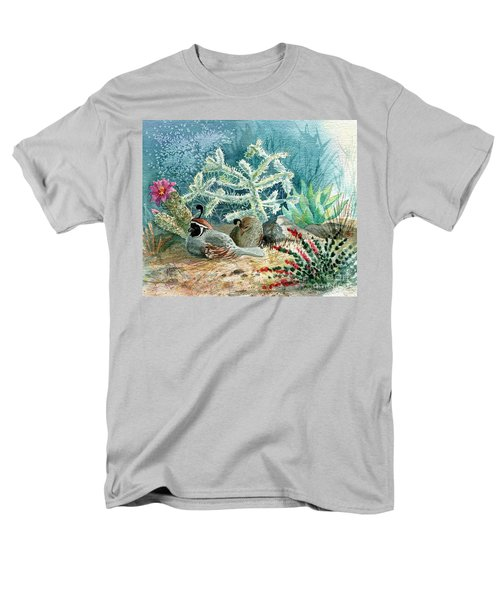 Quail At Rest Men's T-Shirt  (Regular Fit) by Marilyn Smith