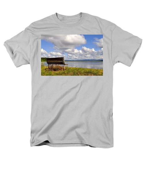 Men's T-Shirt  (Regular Fit) featuring the photograph Quartz Lake by Cathy Mahnke