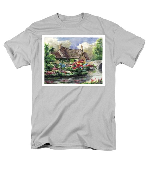 Quiet House Along The River Men's T-Shirt  (Regular Fit) by Alban Dizdari