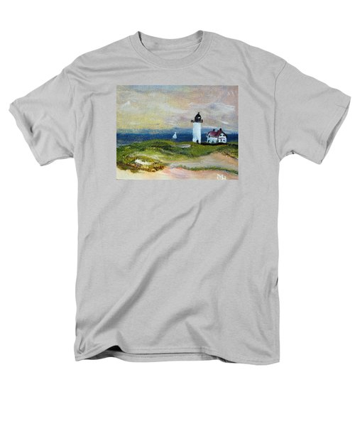 Men's T-Shirt  (Regular Fit) featuring the painting Race Point Light by Michael Helfen
