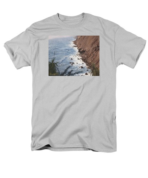 Ragged Point California Men's T-Shirt  (Regular Fit) by Barbara Barber