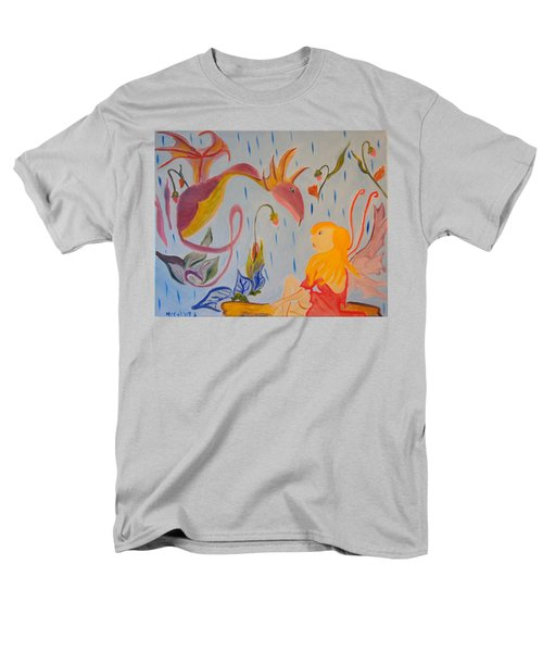 Men's T-Shirt  (Regular Fit) featuring the painting Rain Dragon by Meryl Goudey