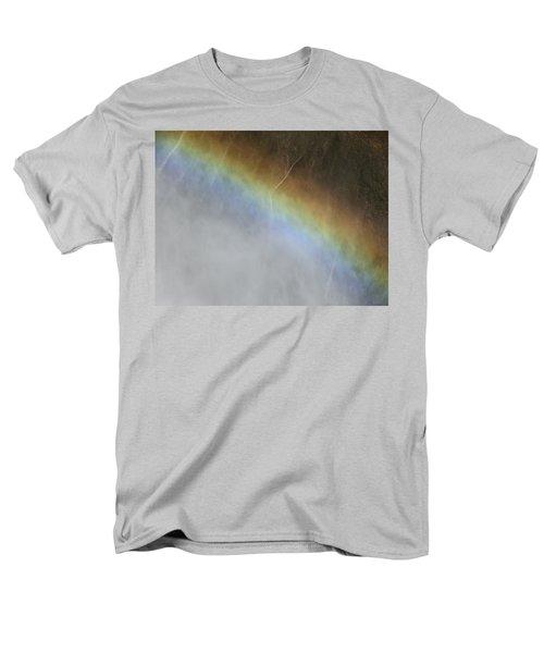 Rainbow Over The Falls Men's T-Shirt  (Regular Fit) by Laurel Powell