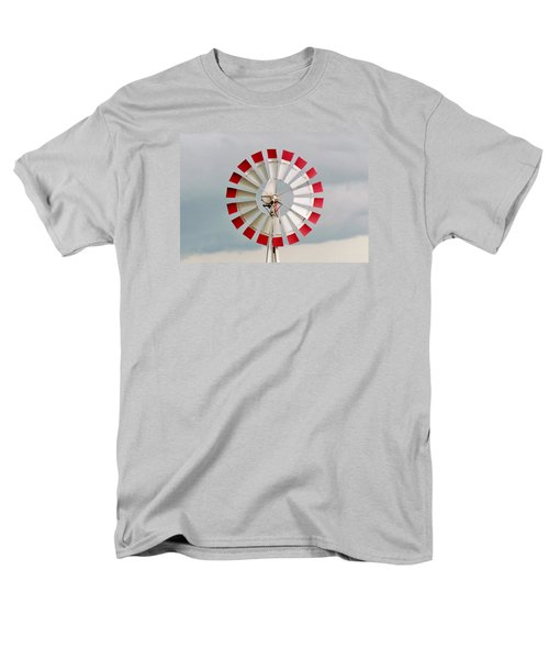 Men's T-Shirt  (Regular Fit) featuring the photograph Red And White Windmill by Cynthia Guinn