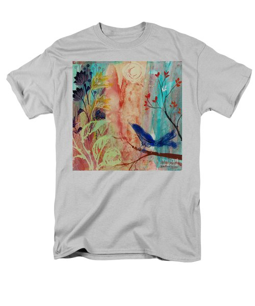 Men's T-Shirt  (Regular Fit) featuring the painting Rhythm And Blues by Robin Maria Pedrero