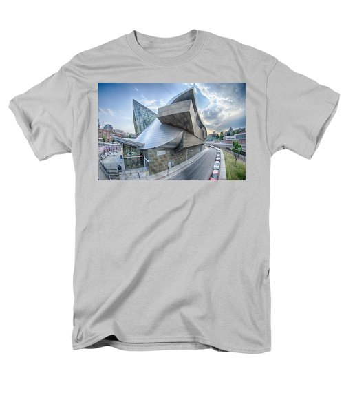 Roanoke Virginia City Skyline In The Mountain Valley Of Appalach Men's T-Shirt  (Regular Fit) by Alex Grichenko